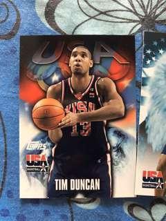 Tim Duncan and Gary Payton Team USA 2000 card lot