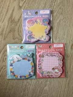 Sanrio Post-it Pads