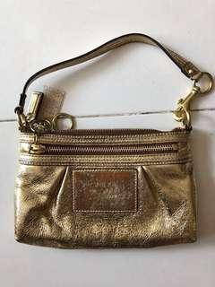 Authentic Coach Gold small handbag