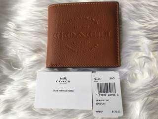 Coach double bill wallet