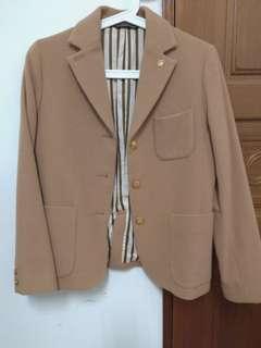 🚚 日本製NICE CLAUP 90%羊毛保暖外套★高質感西裝剪裁學院外套