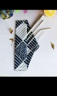 Instocks! Metal straw reuseable