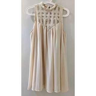 F21 Mesh Top Babydoll Dress