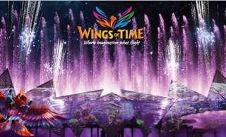 🚚 Wings of Time ticket for sale!