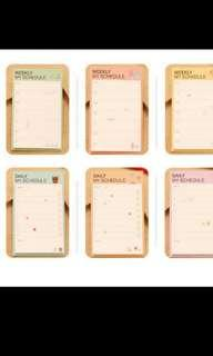 Weekly/Daily planner (instocks available)
