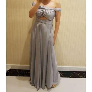 Multiway dress(up to 20 styles) - grey