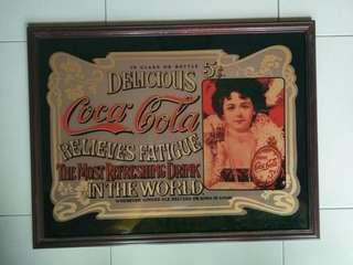 Antique coca cola mirror frame