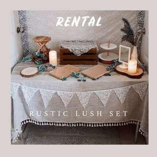 Rustic Lush Set - Dessert Table Decor RENTAL