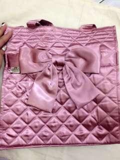 NARAYA Ribbon Signature Tote Bag (pink)