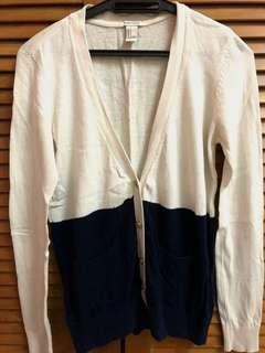 Forever 21 Blue and White Cardigan