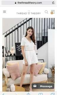 Thread Theory White Romper or Jumpsuits