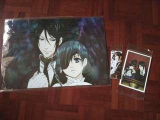 Anime: Kuroshitsuji posters, postcards and bookmarks
