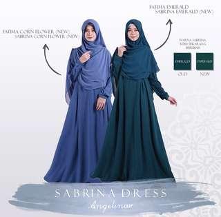 Atelier Angelina Sabrina Dress Emerald