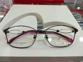 🚚 Elegant high quality pure titanium frame