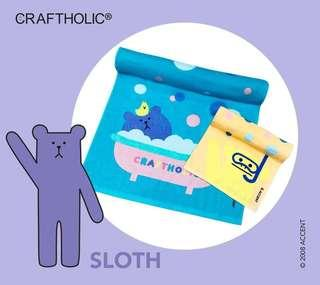 Crabtree & Evelyn - Craftholic Sloth Towel Set