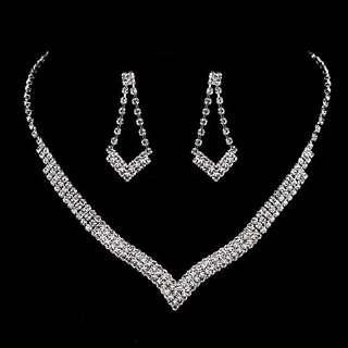Diamond Necklace + Earrings