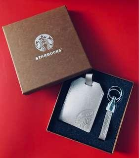 BN Starbucks Rose Gold Cardholder & Keychain