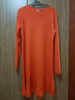 Knitted peplum dress
