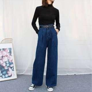 wide legged denim pants