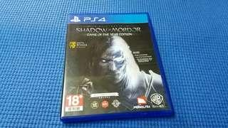 PS4   SHADCW OF MORDOR  正版 game made in Japan