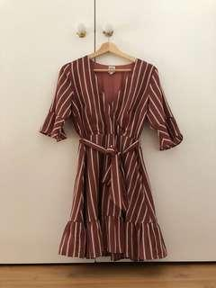 Perfect stranger rustic red dress