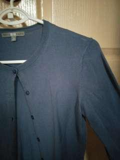 Uniqlo blue cardigan