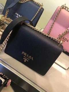 Prada Black China Shoulder Bag