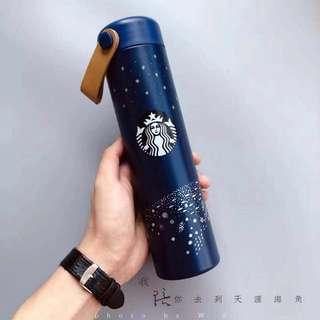Starbucks 韓國藍色銀河保温杯星巴克杯