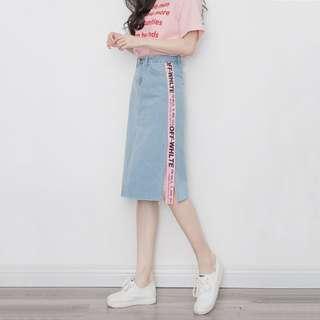 🚚 BN Off-White Denim Skirt Instock