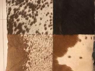 Real cowhide fur cushion