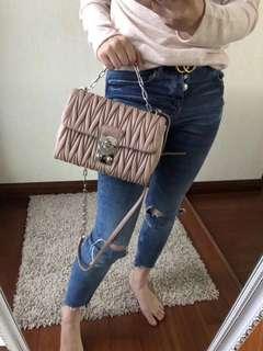 MIU MIU Skin Color Chain Shoulder BAG