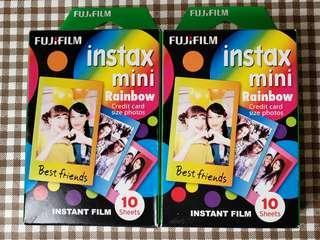 全新 100蚊兩盒 即影即有相紙 Fujifilm Instax mini rainbow