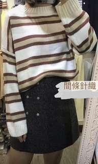 間條針織冷衫 striped womens knit sweater