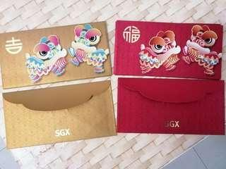 🚚 Set of 8 SGX Red Packet And Pow