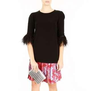 Rtp$350 MICHAEL KORS blouse with feathers