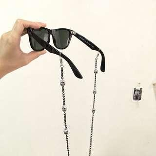 Skull beads eyewear necklace accessory