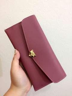 (NEW) Fox Wallet red bean color