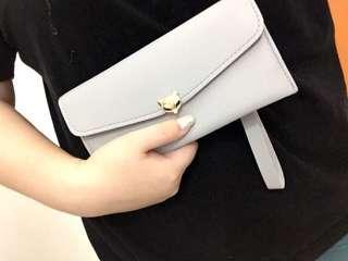 (NEW) Fox Wallet grey color