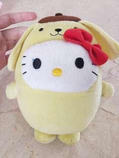 Hello kitty with pom pom purin costume