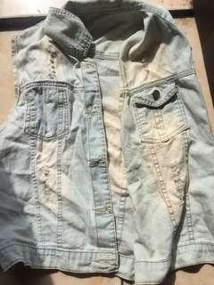 outer jeans lengan pendek