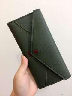 (NEW) Love letter wallet - green
