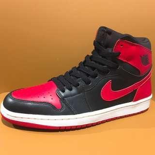 """全新 Nike Air Jordan 1 I Retro 2001年版 Black/Varsity Red """"2001 Bred"""" 136066 061 US Size 9.5 NMD 紅黑 米高佐敦 籃球鞋 波鞋 跑鞋 運動鞋 喬丹"""