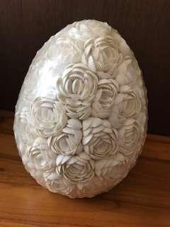 Pair of Sea rose shell table bedside lamp