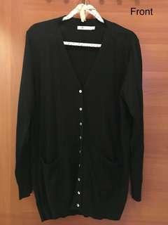 Black cotton cardigan