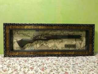 Vintage Display Gun w/ Frame