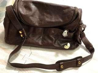 Tribe Leather Diaper Bag