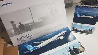 Boeing 2019 Calendar - set of wall and table calendars