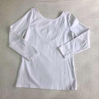 Zara 3/4 Sleeve Backless Top