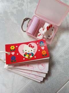 Hello Kitty Mini Notepad & Eraser Set