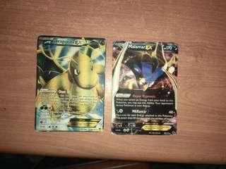 Pokemon Cards Combo Dragonite EX + Malamar Ex